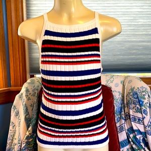 Ribbed H&M tank - red, white, and blue
